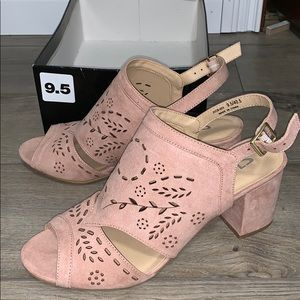 Chinese Laundry Joanne Super Suede Frost Pink Heel